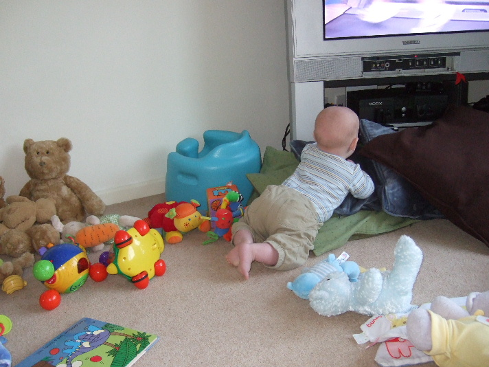 baby and television