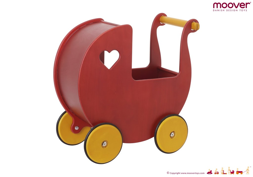Dolls-pram-cherry-red