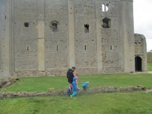 A trip to Castle Rising which was sold by  as a derelict wreck by Henry VIII