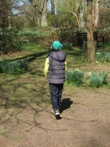 Eight year old fashion and a rare excursion into 'the outdoors'