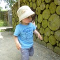 In the garden copyright Being a Mummy