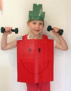 mr strong kids costume
